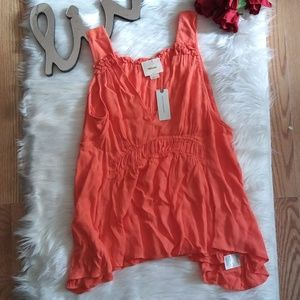 Anthropologie Maeve Coral tank